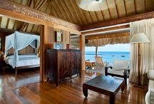 """Thatch Destinations / Discovering out of the way places that are masters at creating a tropical environment.  These pictures just command that you """"leave all your worries at the door."""""""