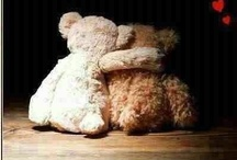 """DOLLS & Teddybears / She said: """"I am too old to play with dolls,"""" and put them all away, Into a box, one rainy day. I think she must have felt some pain, She looked so long into the rain, then sighed: """"I'll bring you out again; """"For I'll have little children too, with sunny hair and eyes of blue and they will play and play with you, """"And now good-bye, my pretty dears; There in the dark for years and years, Dream of your little mother's tears.""""No one will ever love you as I my little children....goodbye ...goodbye / by Wendy Dykstra-Fishlock"""