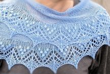 Shawlettes. / Inspiration for small crescent shaped shawls, to brighten up a tee shirt or blouse. / by Helen Howard