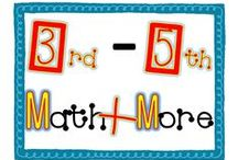 3rd-5th Math + More / Welcome to 3rd - 5th Math Plus More! Find original teacher-made classroom resources + ideas from  exceptional teacher authors. If you would like to contribute to this board, e-mail me at leahpopinski@gmail.com. Pinners, feel free to pin others from this board as well as add helpful ideas, blog posts, and freebies frequently to keep our board interesting to everyone.  Thanks! -Leah / by Leah Popinski - Sum Math Fun