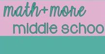 Middle School Math + More / Welcome to Middle School Math Plus More! Find original teacher-made classroom resources + ideas from  exceptional teacher authors. If you would like to contribute to this board, e-mail me at leahpopinski@gmail.com. Pinners, feel free to pin others from this board as well as add helpful ideas, blog posts, and freebies frequently to keep our board interesting to everyone.  Thanks! -Leah