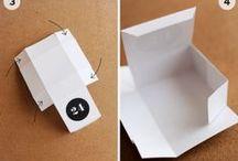 Cartonnage emballage cadeau / Boite et sac d'emballage cadeau DIY