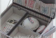 Cartonnage boîte à couture