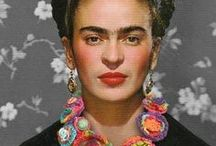 artist FRIDA KAHLO (1907-54) / frida kahlo inspirations | mexico | twentieth century female artists | diego rivera | painting