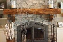 Rustic Mantels / Real Wood Mantels and rustic style. DIY, tips and tricks, home makeover, come here for inspo and ideas!