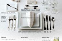 Setting the table / Tischlein Deck dich - Inspriration für das Eindecken und die Dekoration / setting the table - inspiration for layout of cuttlery, napkins and decoration