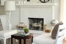 White Fireplaces / Fireplaces that are white.
