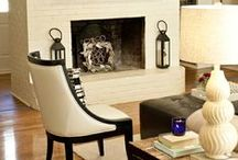 Painted Natural Light Fireplaces / Fireplaces that are painted a light cream or beige color.