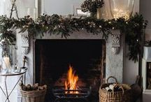 Christmas Fireplaces / Different looks for your fireplace during the Christmas season!