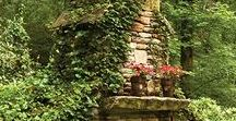Outdoor Fireplaces / Outdoor brick, stucco, rock, concrete fireplaces.