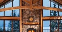 Rustic Fireplaces / Rustic fireplaces in cabins.