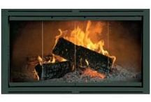 Majestic Fireplace Doors / Majestic fireplace pre-fab/ zero clearance doors  keep cold drafts out!  With easy DIY installation, these replacement doors give your fireplace a finished look.  They come in black and other colors too!