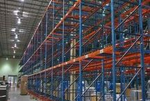 Used Pallet Rack / Used pallet racking stores inventory loads that are strapped to pallets. Used pallet racking has horizontal rows with multiple levels which keeps your warehouse or storage room organized by placing pallets neatly off the floor. Used pallet racking varies in capacity depending on the beams and frames required for the specific application.