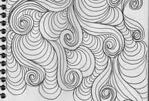 Dessin dooddles Tangles patterns