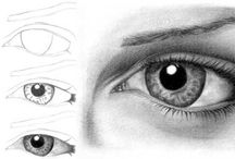 Dessin yeux drawing eyes