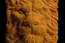 Carved Lion / Carved Lion heads are a very popular carved theme and herein is collection of all the products using carved lion themed art.