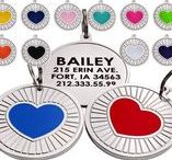 Personalized Enamel Dog IDTag Heart / Check out unique design ID Tags for your beloved dog.