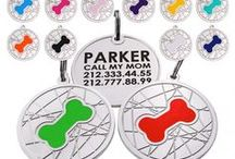 Custom Engraved Dog ID Tags / Every enameled on solid brass tag is etched and crome plated.