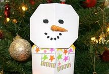 Origami Snowmen  / We sent these cute origami snowmen to our contacts. For every snowman picture we receive with its own scarf design we will donate £1 to charity and we will put it on Pinterest.