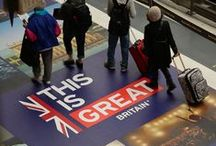 Our Work - British Embassy Paris - Eurostar Campaign at Gare du Nord / Acumen Design create innovative and engaging campaign across a train station for British Embassy Paris