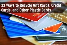 Recycle plastic gift card