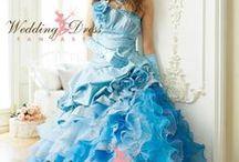 Blue Wedding Dresses / Blue Wedding Dresses from WeddingDressFantasy.com