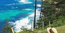 Norfolk Island / This is the home of my heart. I love the land, the people and the energy there. I hope you will too. It's a rugged landscape, a small island dot in the ocean, the place where Norfolk Pines come from and so much more.