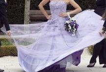 Purple Wedding Dresses / Award Winning Custom Wedding Dresses from WeddingDressFantasy.com CoutureDeBride.com. Gothic, Black, Red, and Modest Wedding Dresses Worldwide Shipping