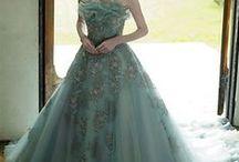 Green Wedding Dresses / Green Wedding Dress Custom Made by www.WeddingDressFantasy.com