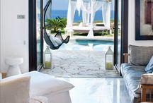 "White magic by the sea / A white Interior Designed Villa in Cyprus, by Athena Constantinou, featured in Interior Design local magazine under the title ""Summer Feast"""