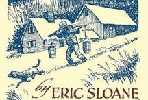 Eric Sloane (1905-1985) / American Artist. was an American landscape painter and author of illustrated works of cultural history and folklore. The Sloane-Stanley Museum is operated by the state of Connecticut to showcase Sloane's collection. / by Thomas Jay Kemp