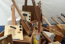 Ferrara Buskers Festival | 20-28 Agosto 2016 / I nostri Cigar Box Guitars presso il Giardino delle Duchesse!  #bedinicustomguitars #FerraraBuskersFestival