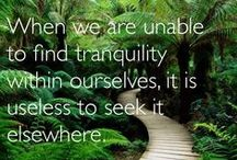 Think / Inspirational quotes, information and news about MBSR, mindful living resources, meditation mantras and more.