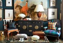 gentlemans club / Designing spaces for men or with a masculine look / by Elisa Smith