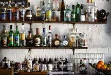 Bars / Home Bar setup design and inspiration / by Elisa Smith