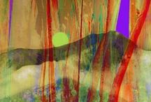 ZSANAN ART - abstract / From photos, here are abstract progressions. Imagery in photomontage original work waiting for you to bring home or share...by Zsanan for  z-ART-z ! studios .