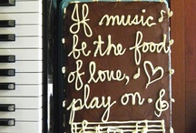 If music be the food of love, play on. / chocolate cake