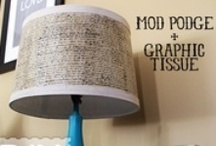 Crafts - Lamps & Lampshade DIY / Where I am storing concepts for table, floor and wall lamps.  Also, shade ideas.  Mega DIY!!!! / by Holly Buckley