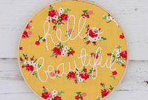 ❤ Embroidery & Needlework / Not your Grandma's embroidery!  Actually, some is.  Cute never goes out of style. Lovely!