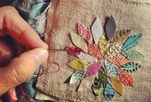 ❤ Applique / Applique has so many uses, both useful and decorative and so many different styles.  I've seen some amazing work.  I can't wait to explore this technique more thoroughly.
