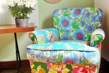 ❤ Furniture Do Overs / I love me some spray paint.  And wood furniture .  A perfect match.  I love afghans & doilies for making ugly furniture into awesomeness.