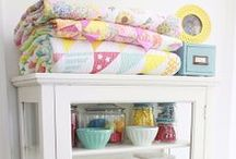 ❤Cute Organization Ideas / The cuter, the better.  I love to have my stuff on display, so it has to be organized!