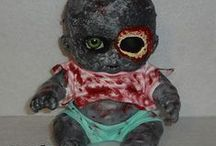 "Morbid Babies / A line of ""Morbid Baby"" dolls on sale at my online store at shop.horrificfx.com"