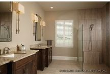 Spa-Like Bathrooms / These house plans feature the ultimate master bathrooms. Look for oversize showers, jaw-dropping tubs, and upscale details to make you feel like you're in a private resort. / by Dream Home Source