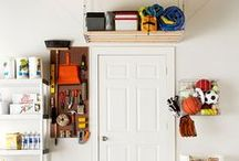 Garage Organization Tips / Having a nice looking garage isn't only about how your garage door looks - it's about organizing the space making it personalized and usable.