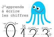 Apprendre à écrire chiffres et nombres en maternelle / Apprendre à écrire les chiffres en maternelle. Fiches à imprimer pour les plus petits. Petite section. Moyenne section. Grande section. Ps ms gs.