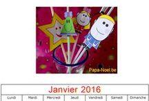 Calendriers Janvier 2016 à imprimer / Des calendriers à imprimer pour le mois de janvier 2016.
