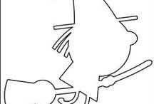 Silhouettes, pochoirs et gabarits d'Halloween / Des silhouettes à imprimer sur le thème d'Halloween. Et qui peuvent servir de point de départ à de nombreuses activités avec les enfants. Si vous utilisez ces silhouettes faites-moi signe ou mieux, photographiez vos œuvres et postez les sur votre compte pinterest, avec un lien vers la source. Merci ! À bientôt !