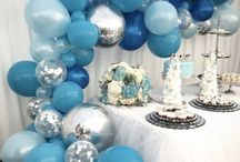 Balloons party styling