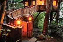 trees & tree houses,house boats and earthy homes!